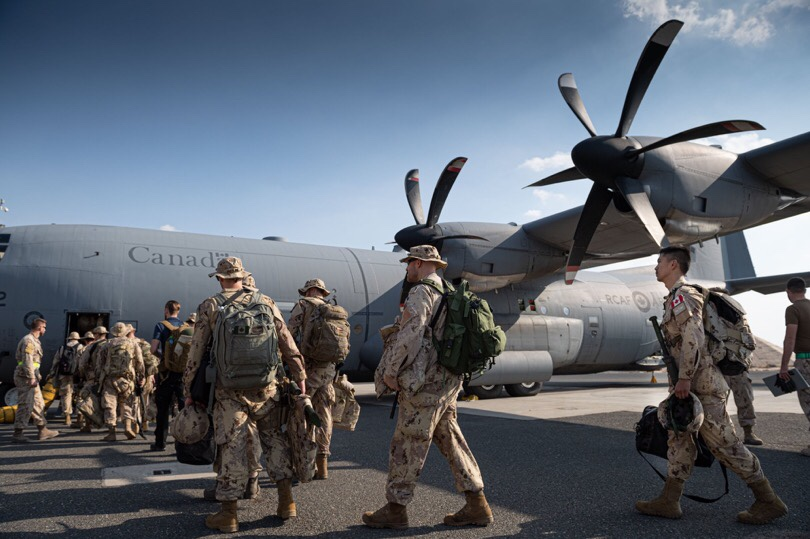 Canadian soldiers returning from overseas isolating in Kingston