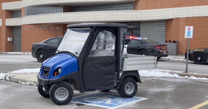Man charged after golf cart stolen, driven on QEW: OPP
