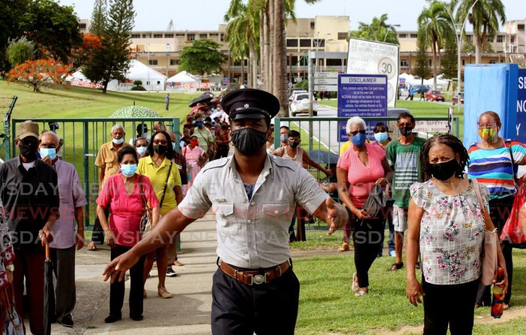 Police had to disperse crowds at vaccination sites